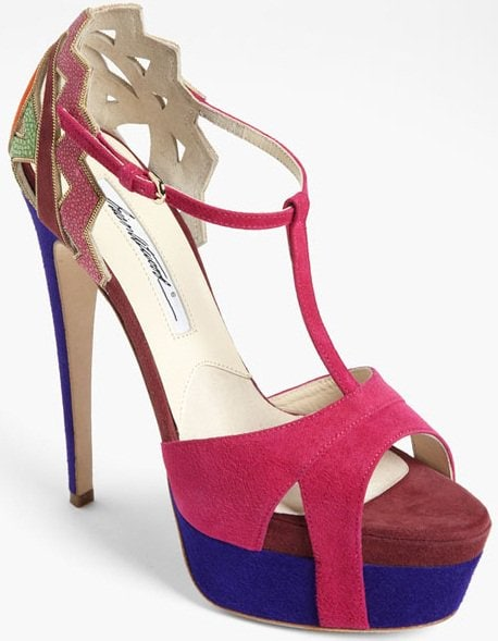 "Brian Atwood ""Maia"" Heels in Magenta Multi"