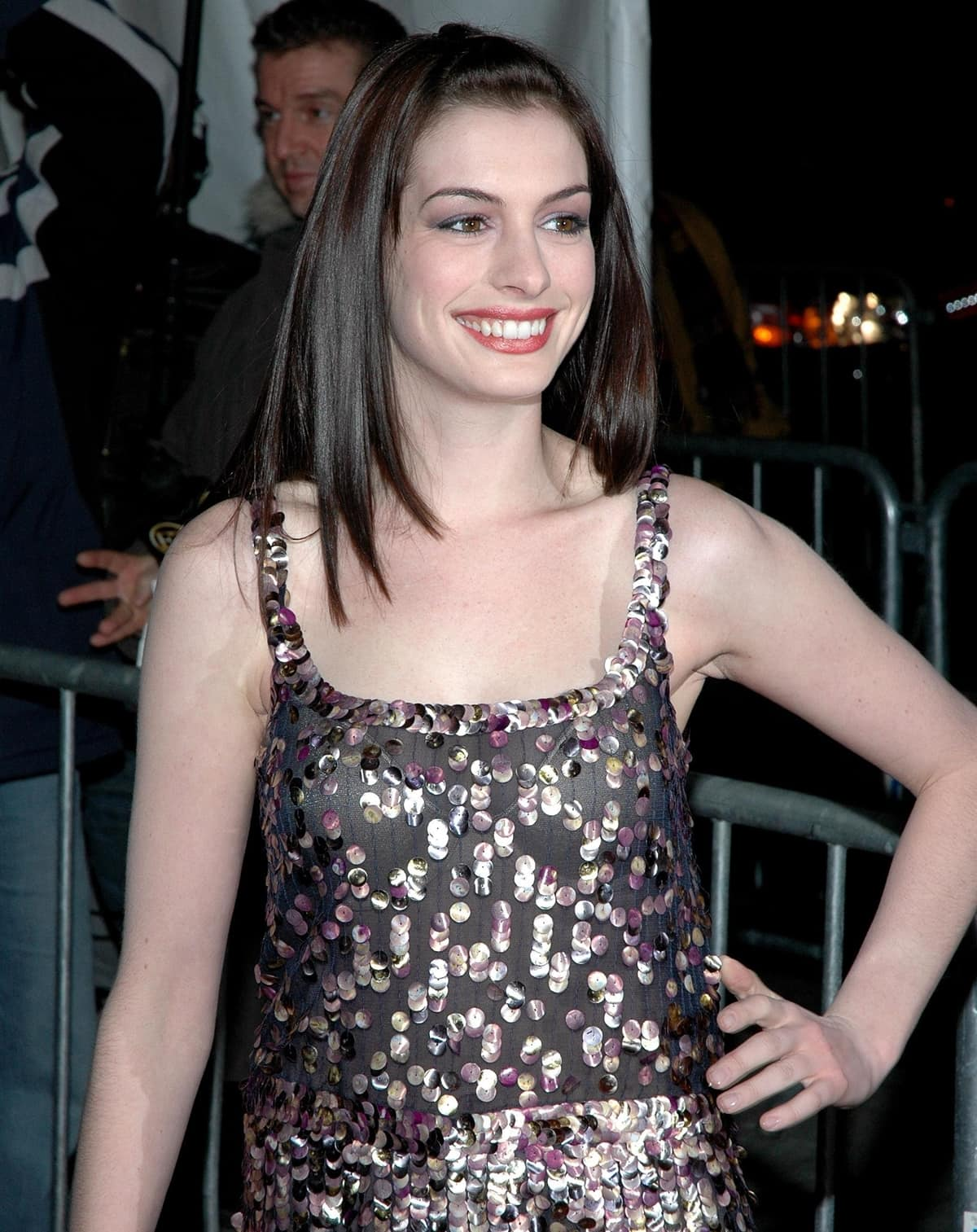 Anne Hathaway at the New York premiere of Brokeback Mountain
