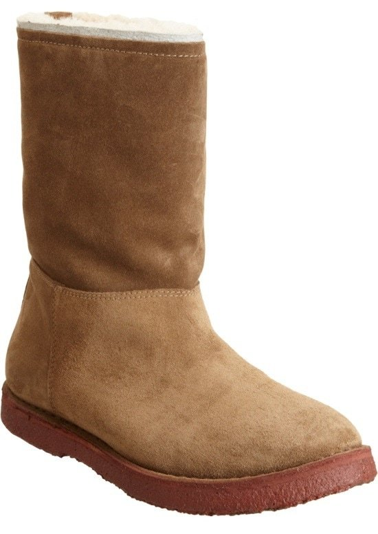 Shearling-Lined Mid-Calf Boots