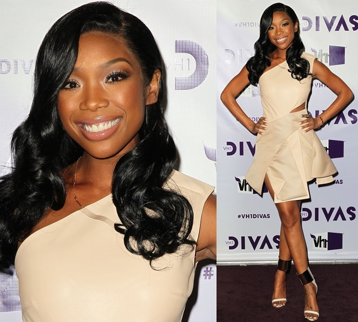Brandy Norwood arrives at 'VH1 Divas' 2012 held at The Shrine Auditorium on December 16, 2012, in Los Angeles, California