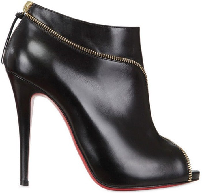 Christian Louboutin Col Zippe Ankle Booties in Black