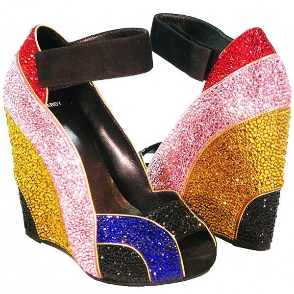 "Crystal Heels Pierre Hardy ""Rainbow-Tini"" Limited Edition Crystal Shoes"