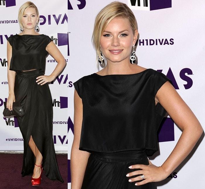 Elisha Cuthbert arrives at 'VH1 Divas' 2012 held at The Shrine Auditorium on December 16, 2012, in Los Angeles, California