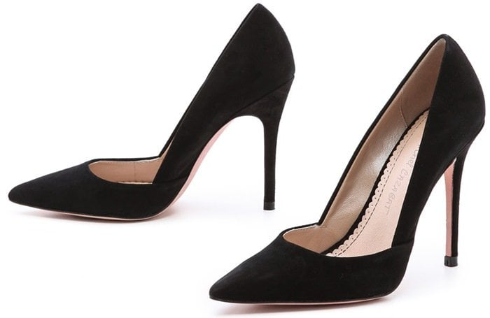Pointed-toe Jean-Michel Cazabat pumps look timeless in velvety suede