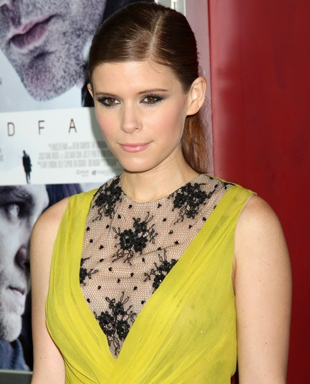 Kate Mara wearing a Jason Wu Resort 2013 dress at the 'Deadfall' Los Angeles premiere after party at ArcLight Hollywood on November 29, 2012 in Hollywood, California