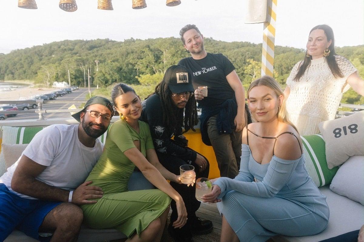 Kendall Jenner and her friends with friends Luka Sabbat, Derek Blasberg, and Karlie Kloss