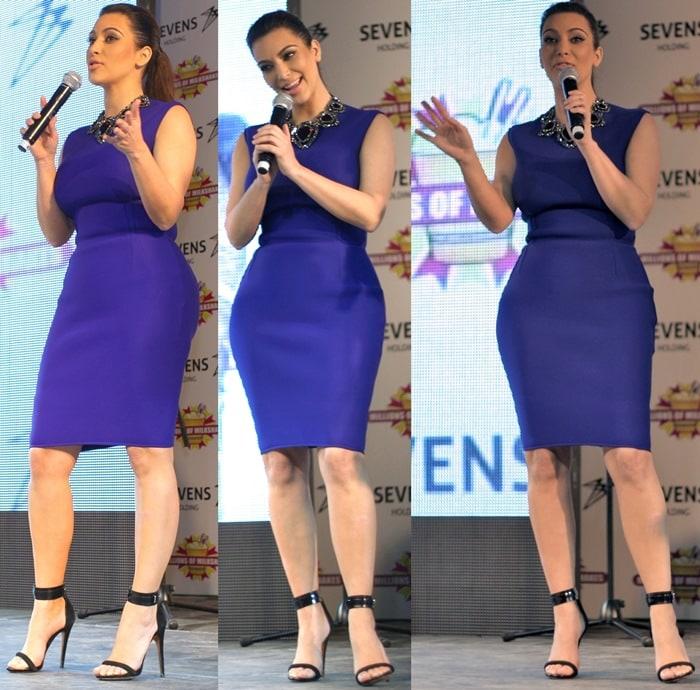 Kim Kardashian Blue Dress