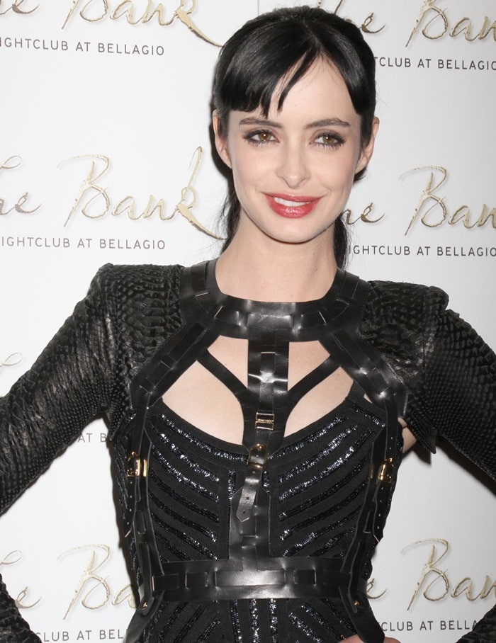 Krysten Ritter celebrating her 31st birthday at The Bank Nightclub in Las Vegas on December 15, 2012