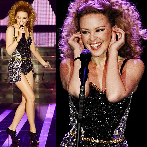 Kylie Minogue performs at 'X Factor' Italian TV Show held at Teatro della Luna