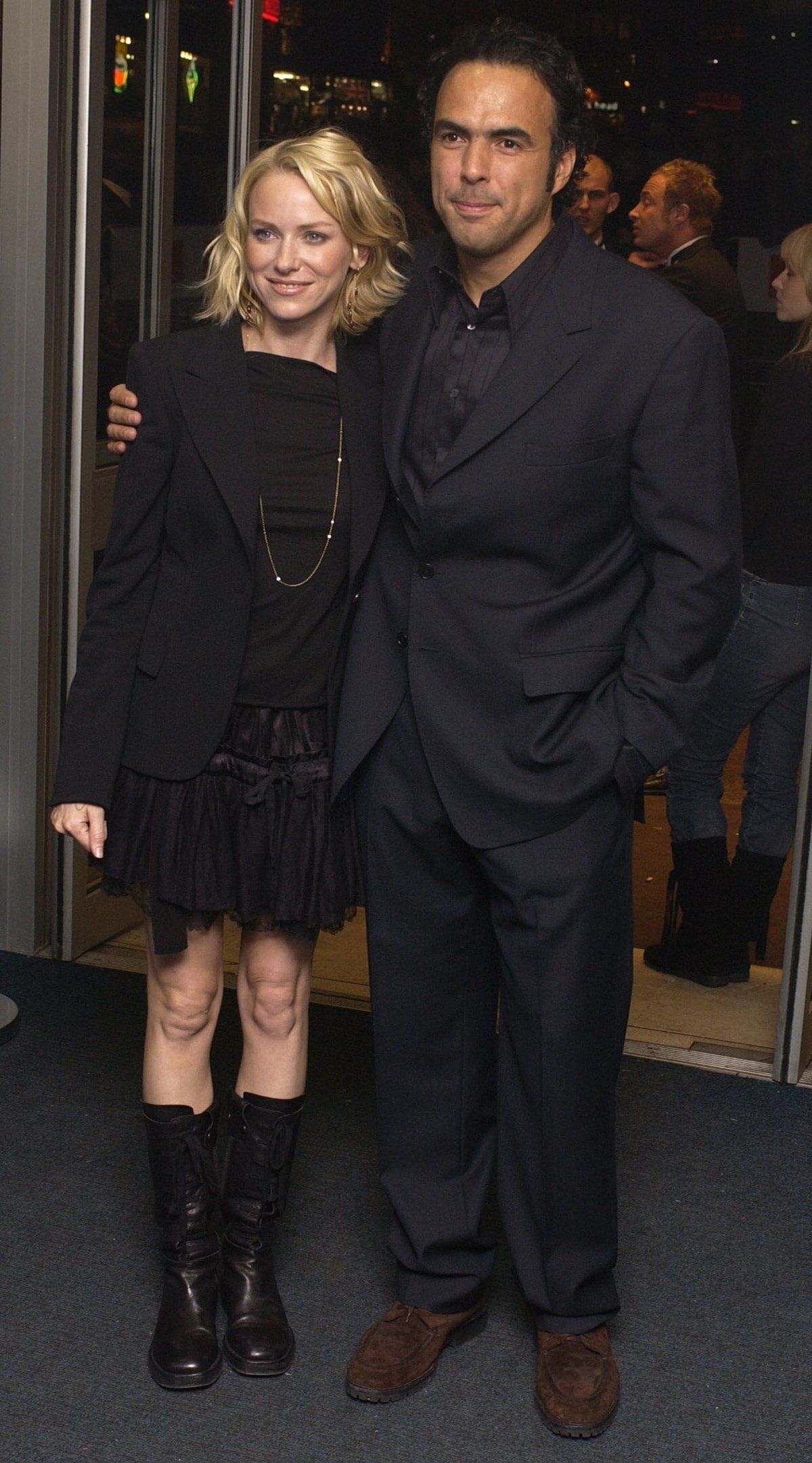 Naomi Watts and Alejandro Gonzalez Inarritu attend the premiere of 21 Grams