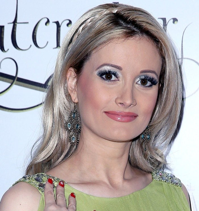 Holly Madison at the Nevada Ballet Theatre production of The Nutcracker at The Smith Center for the Performing Arts in Las Vegas on December 15, 2012