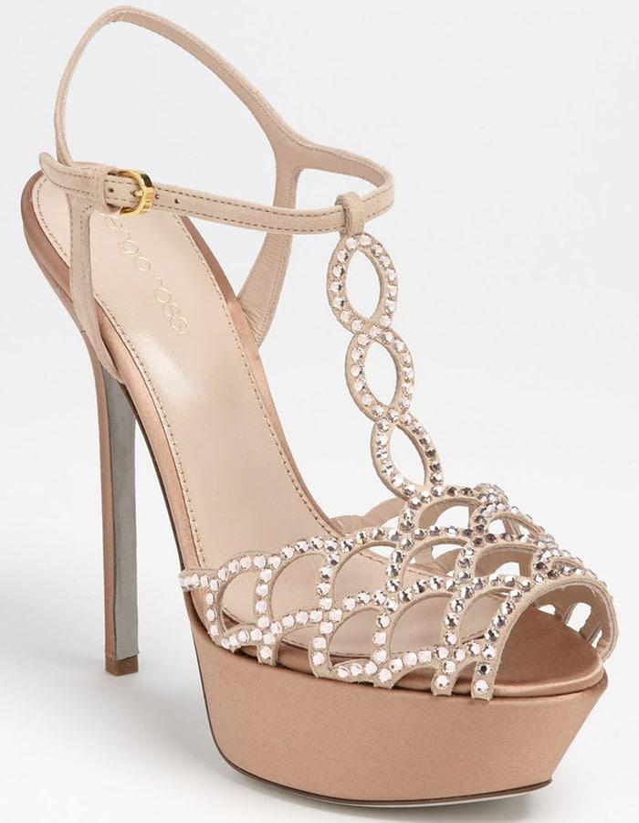 Sergio Rossi 'Crystal Vague' Platform Sandal