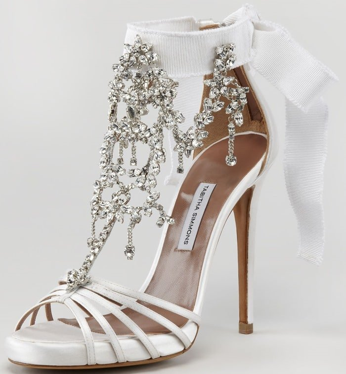 e0b7f951cc34 Tabitha Simmons Chandelier Sandals  The Perfect Wedding Shoes