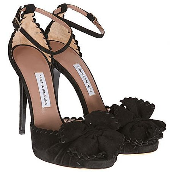 Tabitha Simmons Ruby Scalloped Ankle-Strap Bow Sandals