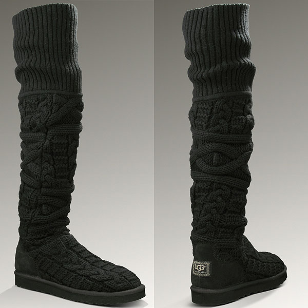 UGG Over-the-Knee Twisted Cable Boots ...