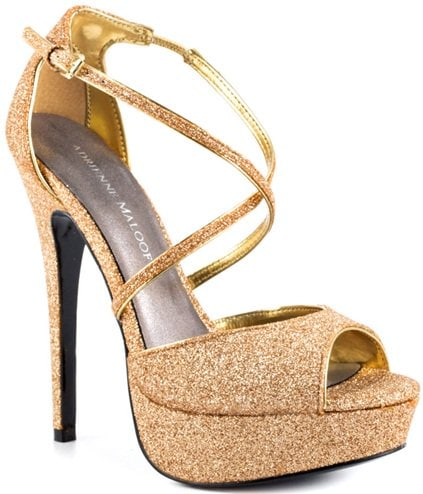 Adrienne Maloof Yvonne Sandals in Gold