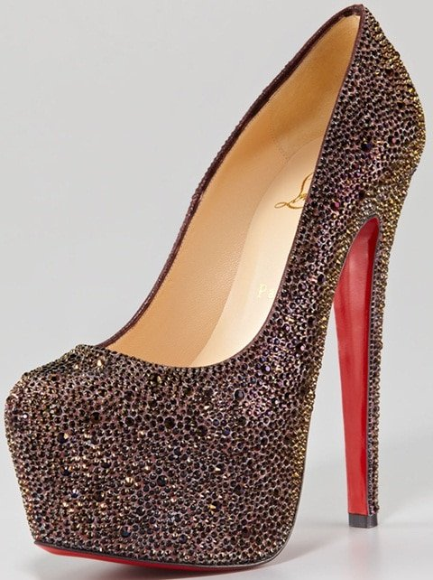 Christian Louboutin 'Daffodile' Strass Crystal Pumps