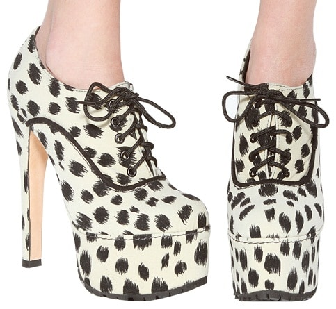Penelope and Coco Edie Booties in Dalmatian