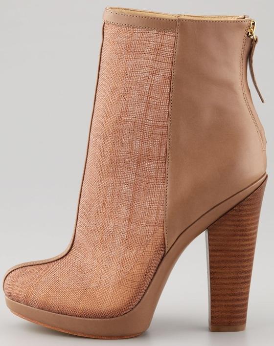 Rachel Zoe Maddy Raffia Ankle Boots in Beige