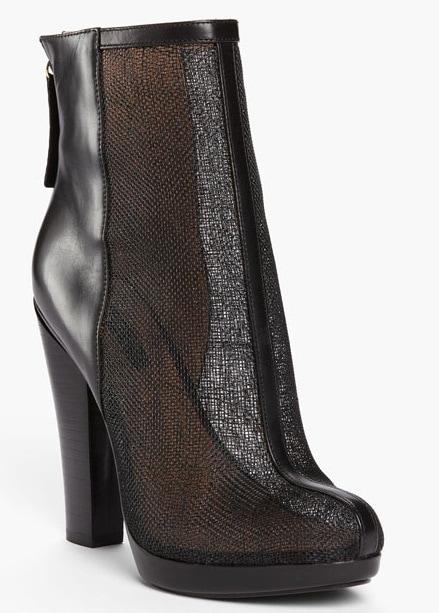 Rachel Zoe 'Maddy' Raffia Ankle Booties in Black