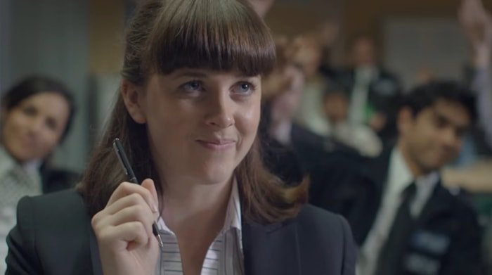 Alexandra Roach as DS Joy Freers in British television police procedural drama No Offence