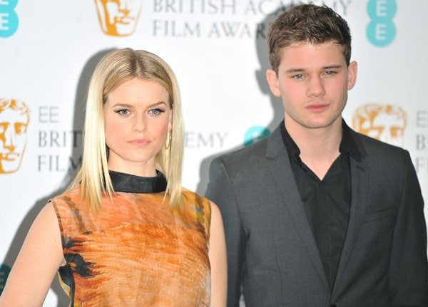 Alice Eve and Jeremy Irvine at the 2013 British Academy Film Awards Nominations held at BAFTA in Piccadilly, London, England on January 9, 2013
