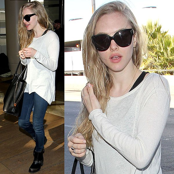 Amanda Seyfried's ensemble is probably the closest to how we ourselves look when we travel