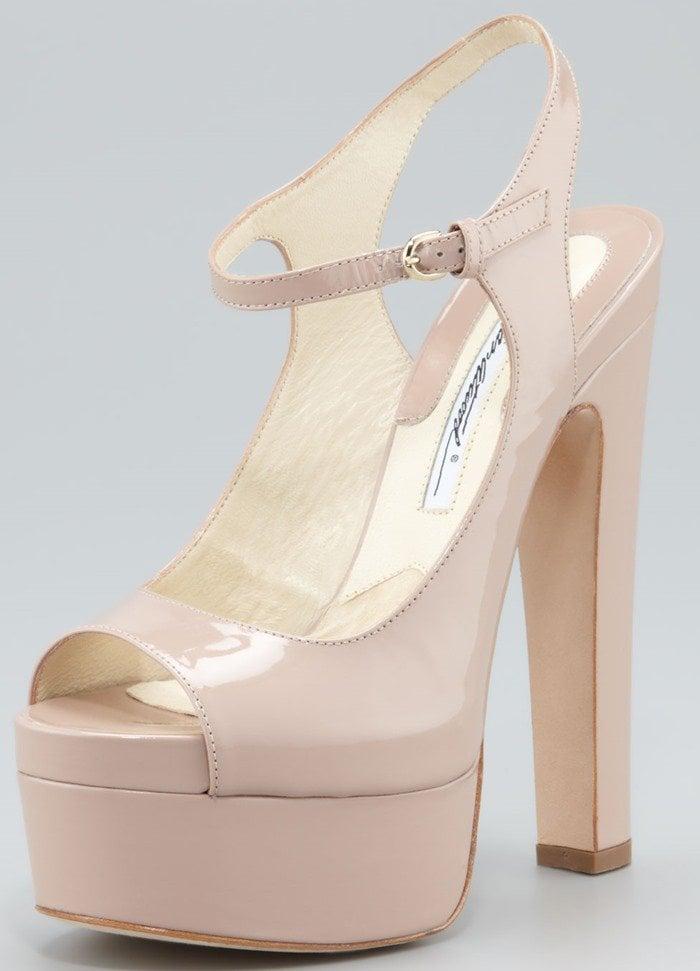 Brian Atwood 'Anais' Patent Platform Sandals