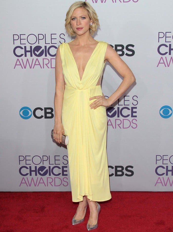 Brittany Snow In Maria Lucia Hohan – 2013 People's Choice Awards