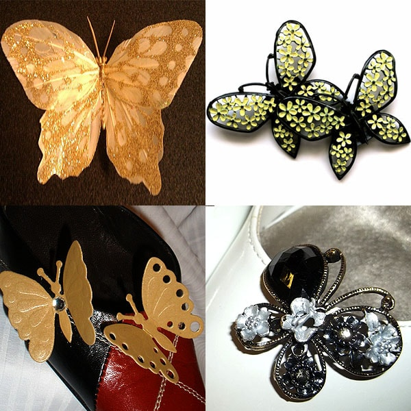 Butterfly shoe clips