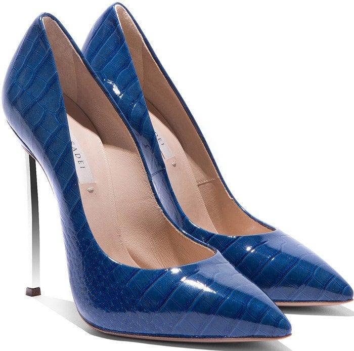 Casadei Blue Blade Heel Pumps