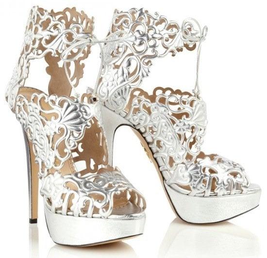 "Charlotte Olympia ""Belinda"" Cutout Sandals"