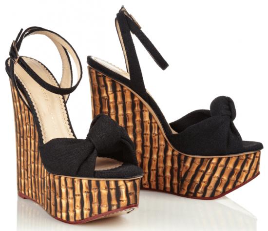 "Charlotte Olympia ""Miranda"" Wedge Sandals"
