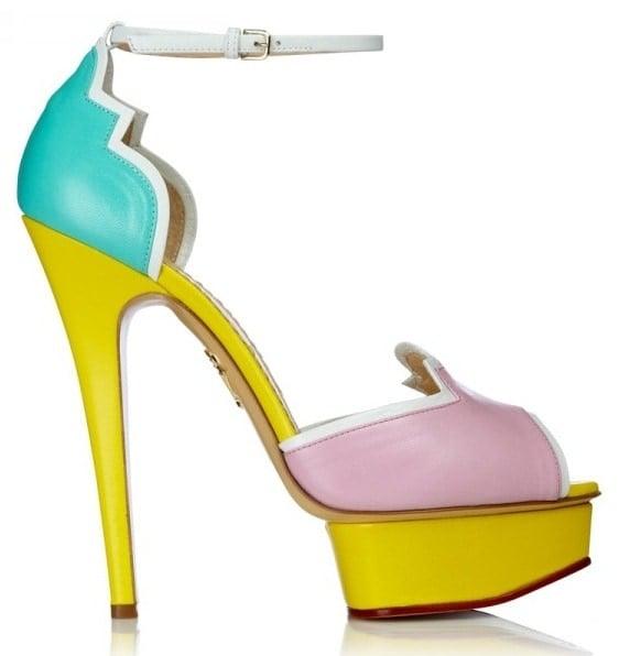"Charlotte Olympia ""Salvador"" Color-Block Sandals"