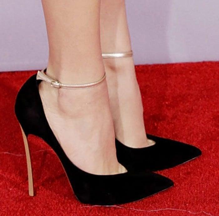 Chloe Moretz wearing Casadei heels