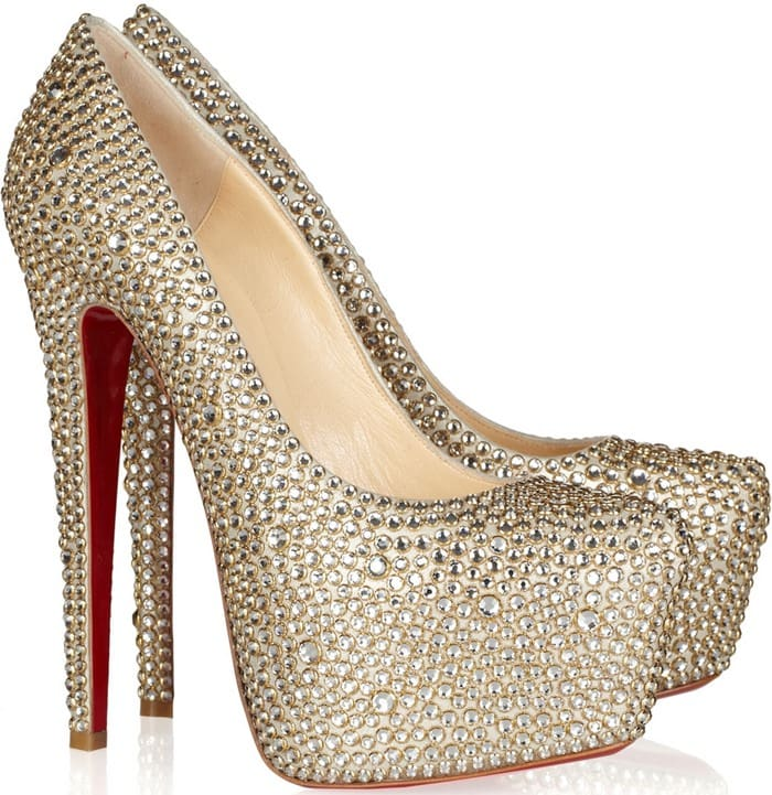 19eab127c Christian Louboutin Daffodile 160 crystal-embellished suede pumps