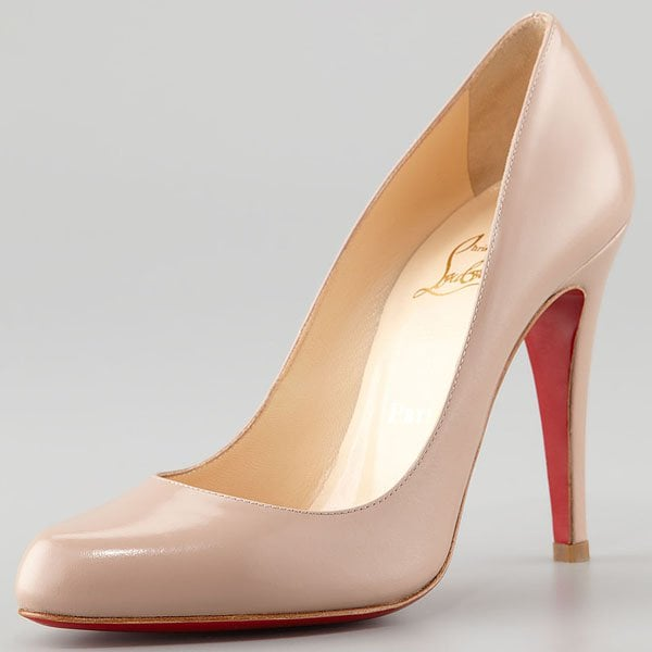 Nude Christian Louboutin Decollete Pumps