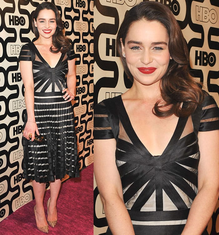 Emilia Clarke at the 2013 HBO's Golden Globes Party