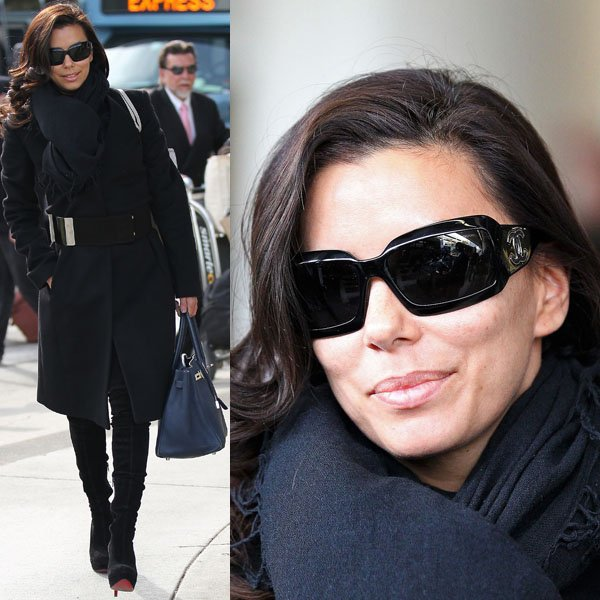 Eva Longoria's choice to wear thigh-high boots to travel is expected