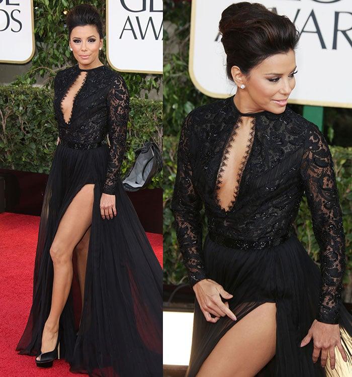 Eva-Longoria-lace-dress-Golden-Globe-2013