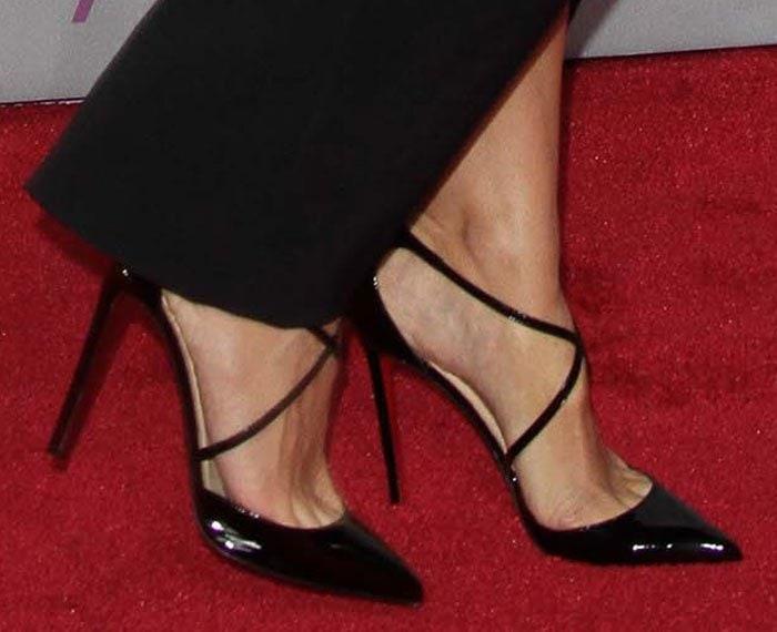 Heidi Klum wearing Christian Louboutin pumps