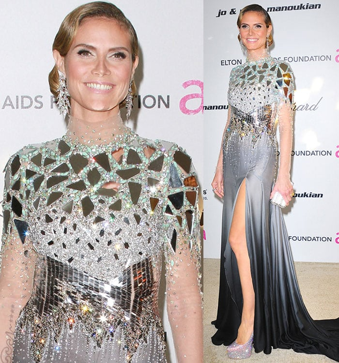 Heidi Klum at the 19th Annual Elton John AIDS Foundation Academy Awards Viewing Party held at the Pacific Design Center in West Hollywood on February 27, 2011
