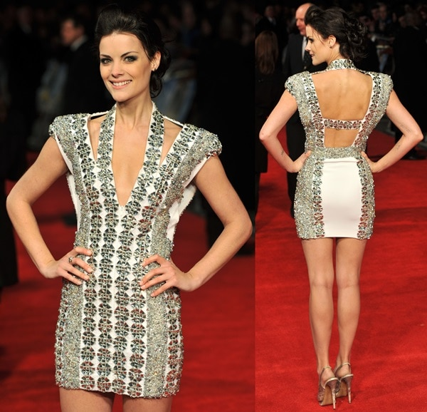 Jaimie Alexander attends The Last Stand UK film premiere held at the Odeon West End