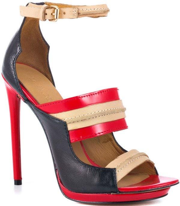 Jane - Black Red L.A.M.B. Heels