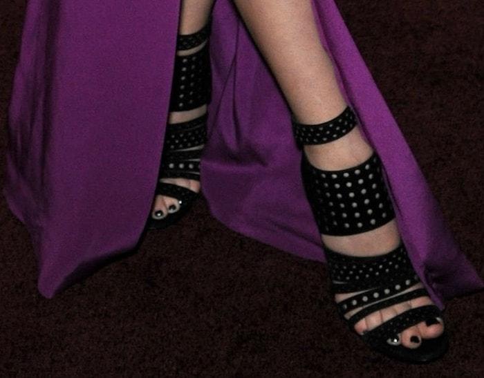Jena Malone wearing Jimmy Choo heels