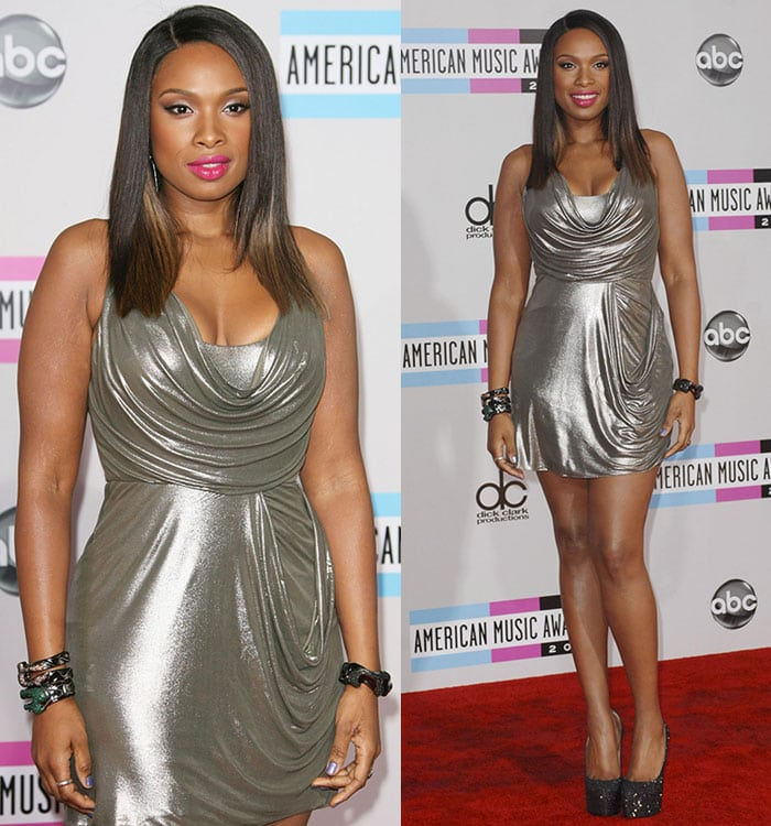 Jennifer Hudson at the 2011 American Music Awards held at the Nokia Theatre L.A. Live in Los Angeles on November 20, 2011
