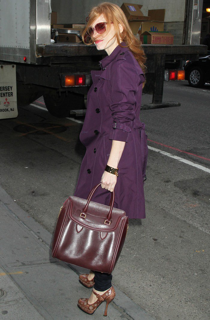 Jessica Chastain at the Walter Kerr Theatre