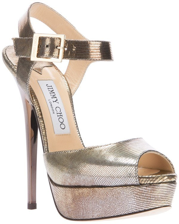 Jimmy Choo Raven Sandals in Gold