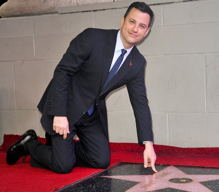 Jimmy Kimmel honored with a star on the Hollywood Walk of Fame