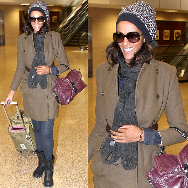 Judi Shekoni may be wearing uggs, but she still manages to look very well put together